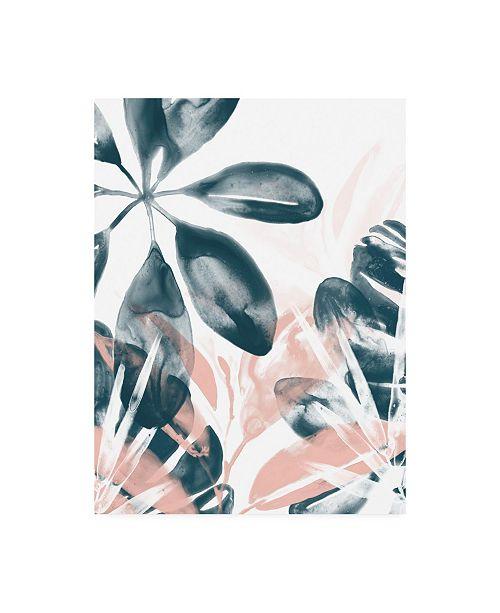 "Trademark Global June Erica Vess Tropical Blush Plants I Canvas Art - 15"" x 20"""