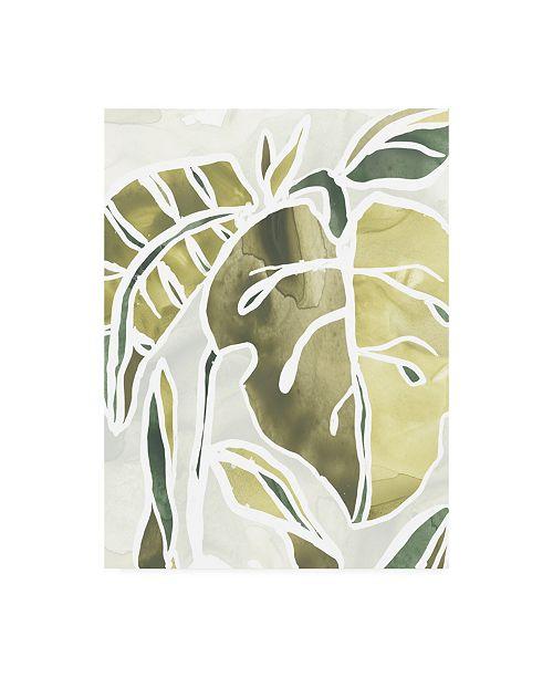 "Trademark Global June Erica Vess Batik Leaves II Canvas Art - 15"" x 20"""