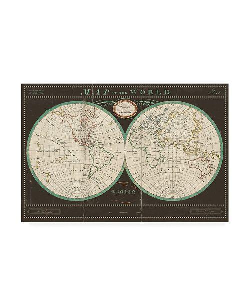 "Trademark Global Sue Schlabach Torkingtons World Map Slate Canvas Art - 15"" x 20"""