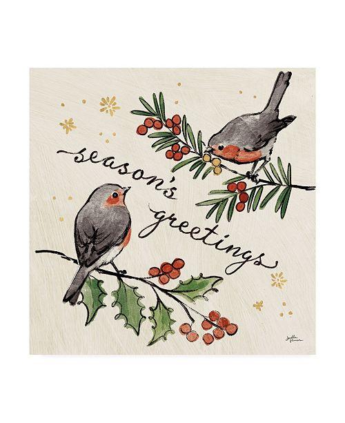 "Trademark Global Janelle Penner Christmas Lovebirds III Canvas Art - 15"" x 20"""