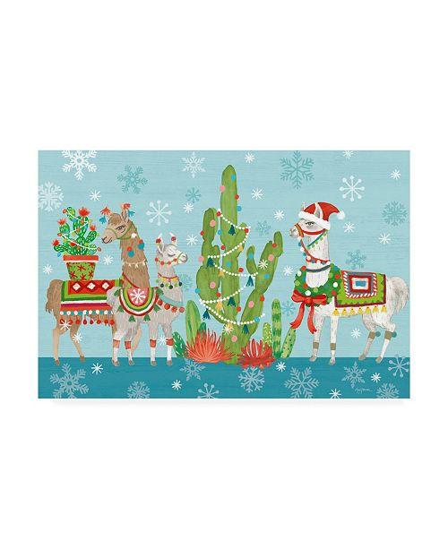 "Trademark Global Mary Urban Lovely Llamas Christmas I Canvas Art - 15"" x 20"""