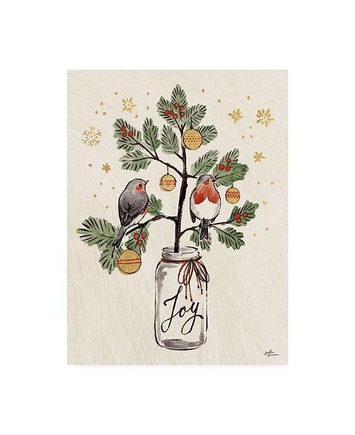 """Trademark Global Janelle Penner Christmas Lovebirds VII Canvas Art - 15"""" x 20"""""""