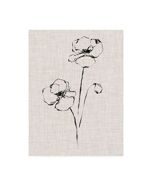 "Trademark Global Ethan Harper Floral Ink Study III Canvas Art - 20"" x 25"""