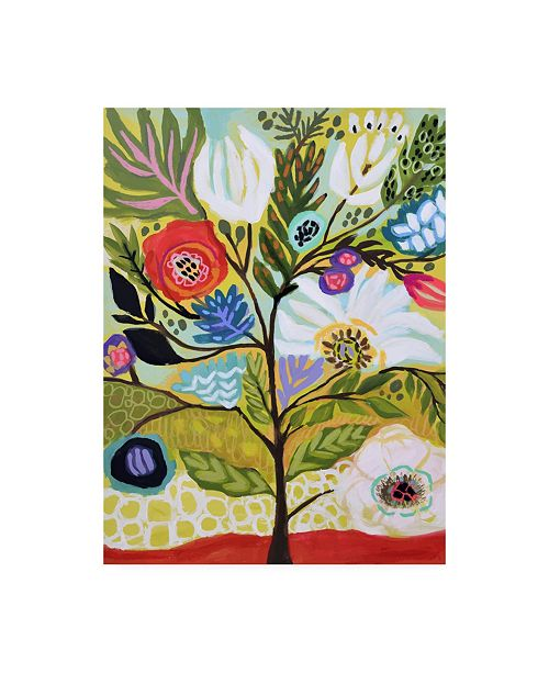 "Trademark Global Karen Fields Flower Tree I Canvas Art - 20"" x 25"""
