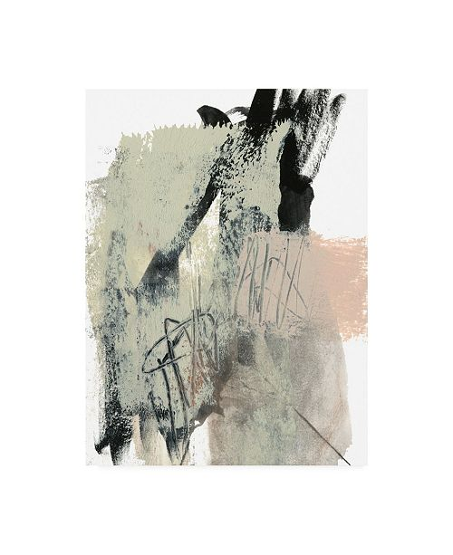 "Trademark Global Jennifer Goldberger Blush and Black II Canvas Art - 15"" x 20"""