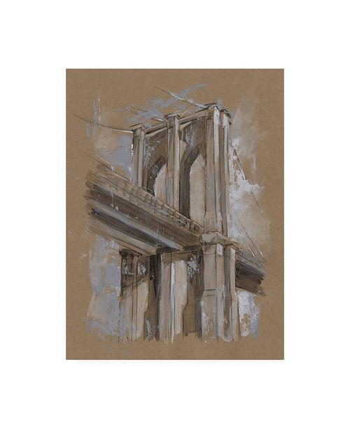 "Trademark Global Ethan Harper Brushwork Architecture Study III Canvas Art - 15"" x 20"""