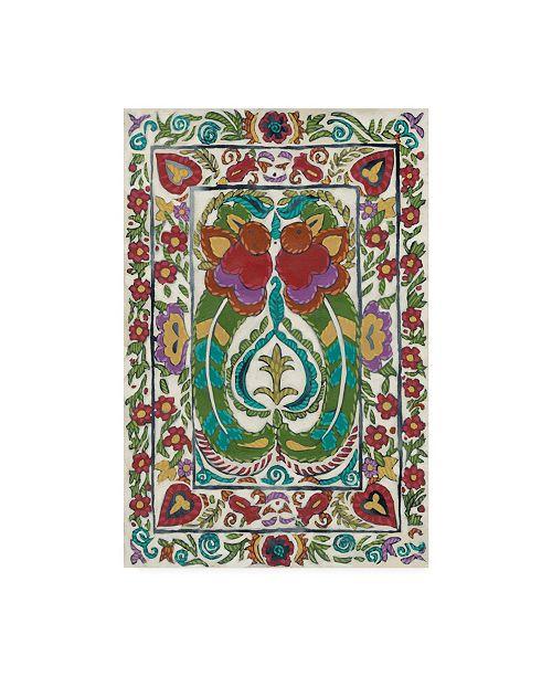 "Trademark Global Chariklia Zarris Batik Embroidery III Canvas Art - 20"" x 25"""
