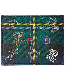 Polo Ralph Lauren Men's Faux-Leather Tartan Card Case