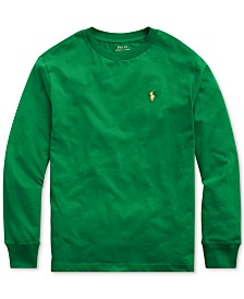 Polo Ralph Lauren Big Boys Jersey Cotton Shirt
