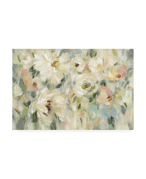 "Trademark Global Silvia Vassileva Expressive Pale Floral Canvas Art - 36.5"" x 48"""