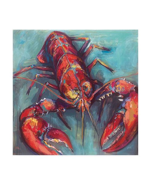 "Trademark Global Jeanette Vertentes Red Lobster Canvas Art - 15.5"" x 21"""