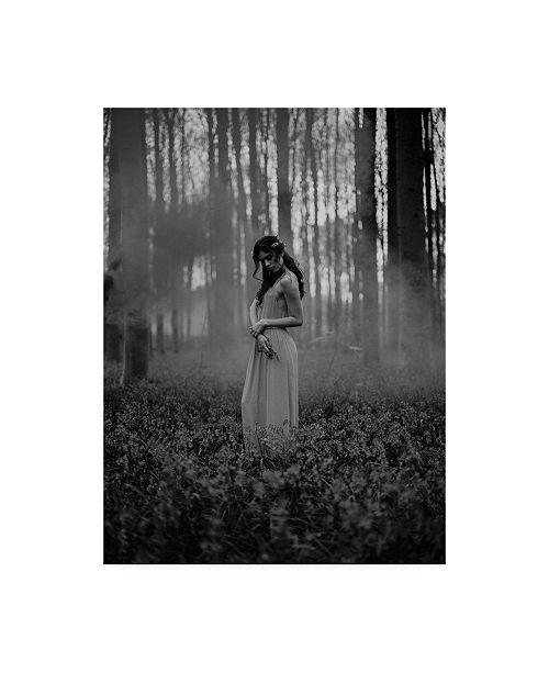 "Trademark Global Design Fabrikken Girl in the Woods Fabrikken Canvas Art - 19.5"" x 26"""