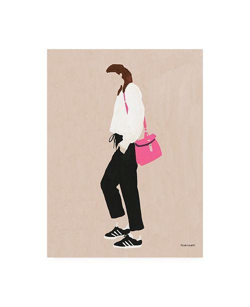 "Trademark Global Megan Galante Hot Pink Handbag Canvas Art - 36.5"" x 48"""