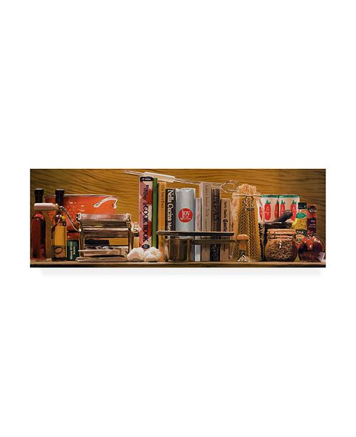 "Trademark Global Roderick Stevens Pasta Kitchen Supplies Canvas Art - 19.5"" x 26"""