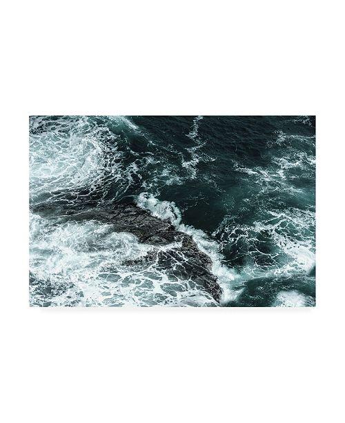"""Trademark Global PhotoINC Studio Waves Over Water II Canvas Art - 36.5"""" x 48"""""""