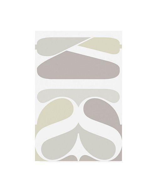 "Trademark Global TypeLike Kiss Typographic Canvas Art - 36.5"" x 48"""