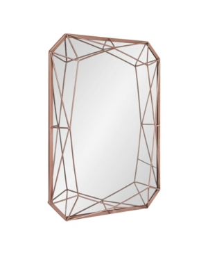 Closeout! Kate and Laurel Keyleigh Rectangle Metal Accent Wall Mirror - 22