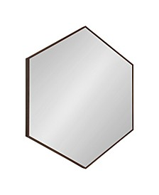 "Rhodes 6-Sided Hexagon Wall Mirror - 30.75"" x 34.75"""