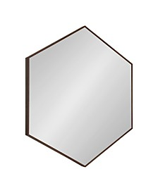 """Kate and Laurel Rhodes 6-Sided Hexagon Wall Mirror - 30.75"""" x 34.75"""""""