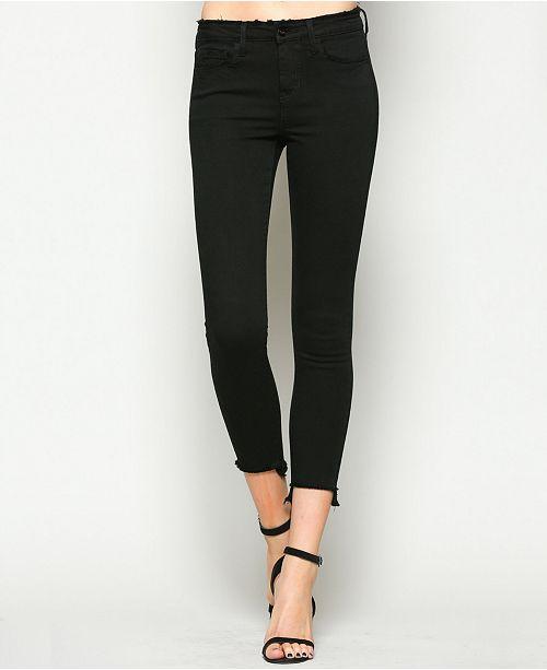 VERVET Mid Rise Frayed Step Hem Crop Skinny Jeans