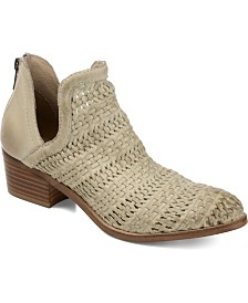 Journee Signature Women's Genuine Leather Dakota Booties