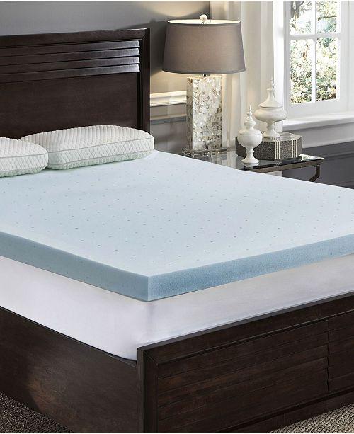 "Rio Home Fashions LoftWorks 3"" Jelly-soft Gel Memory Foam Mattress Topper - Full"