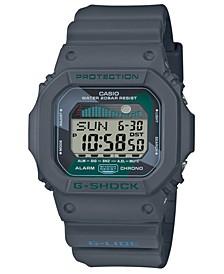 Men's Digital Gray Resin Strap Watch 42.3mm