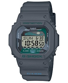 G-Shock Men's Digital Gray Resin Strap Watch 42.3mm
