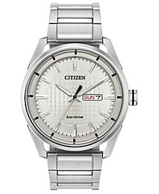 Drive from Eco-Drive Men's Stainless Steel Bracelet Watch 42mm