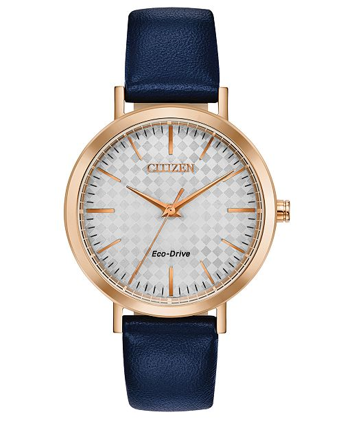 Citizen Drive From Eco-Drive Women's Blue Leather Strap Watch 36mm