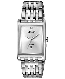 Citizen Men's Quartz Stainless Steel Bracelet Watch 26x32mm