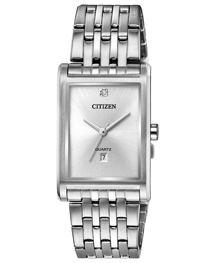 Citizen - Men's Quartz Stainless Steel Bracelet Watch 26x32mm