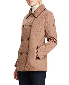 Lauren Ralph Lauren Double-Breasted Faux-Leather Quilted Jacket