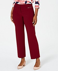 Petite Curvy-Fit Stud-Trim Pants, Created for Macy's