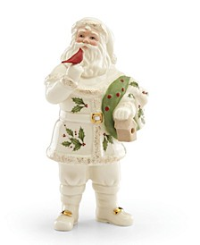Santa with Cardinal Figurine