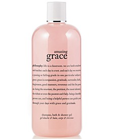 amazing grace 3-in-1 shampoo, shower gel and bubble bath, 16 oz