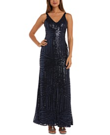 Nightway Petite Sequinned Gown