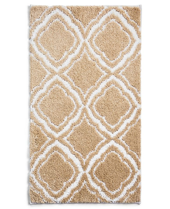"Charter Club Mosaic Geo 19"" x 34"" Bath Rug, Created for Macy's"
