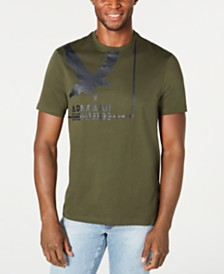 A|X Armani Exchange Men's Textured Bird Graphic T-Shirt