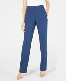 Elie Tahari Seamed Straight-Leg Pants