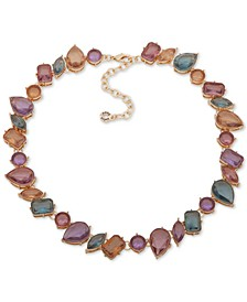 """Gold-Tone Multi-Stone Collar Necklace, 16-1/2"""" + 3"""" extender"""