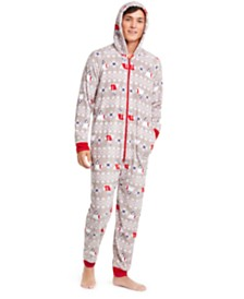 Matching Family Pajamas Men's Polar Bear Hooded Pajamas, Created For Macy's