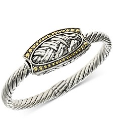 EFFY® Twist Braided Bangle Bracelet in Sterling Silver & 18k Gold