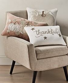 Home Design Studio Harvest Collection Decorative Pillow Collection, Created for Macy's