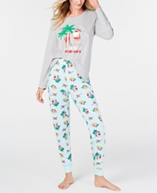 Matching Family Pajamas Tropical Santa Pajama Set, Created for Macy's