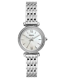 Fossil Women's Mini Carlie Stainless Steel Bracelet Watch 28mm