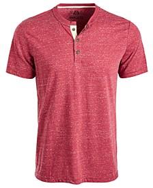 Men's Heathered Short-Sleeve Henley, Created for Macy's