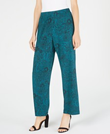 NY Collection Petite Printed Pull-On Pants