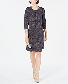 Jacquard-Knit Dress & Jacket