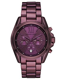 Women's Chronograph Bradshaw Lavender Stainless Steel Bracelet Watch 43mm